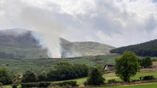 The scene of the gorse fire in the Mournes