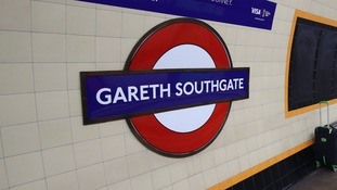 Anger as video emerges showing Gareth Southgate underground sign being ripped down