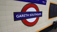 Southgate Tube was rebranded to celebrate the England manager's successful World Cup campaign.