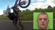 Man jailed after filming himself driving at 200mph on motorbike