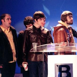 Oasis at The Brits in 1996