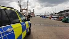 Police have closed Newlyn Harbour