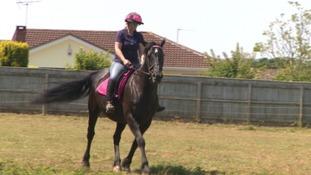 Katie and horse Ebony