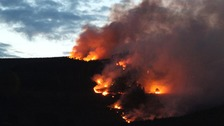 Twmbarlwm wildfire started 'deliberately'