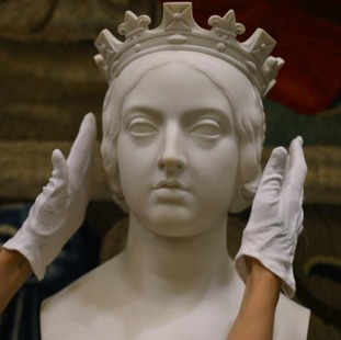 John Gibson's 1850 marble bust of Queen Victoria is part of the exhibition