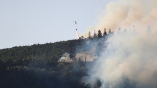Helicopter puts out fire