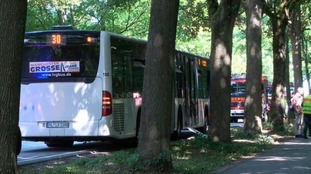 The attack took place on a busy bus