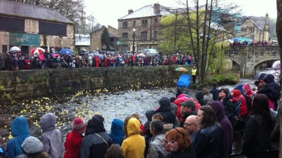 hebden Bridge's annual duck race