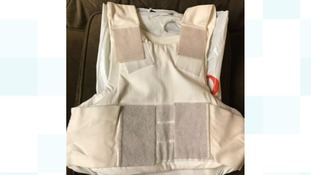 A bullet proof vest was one of the items found by police at two addresses in Islington.