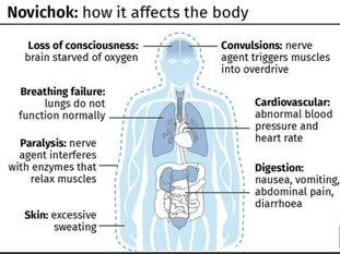 The effects of Novichok on the human body.