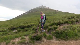 Woman facing leg amputation tackles mountain challenge