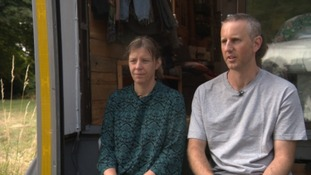 Ibolya Feher and Michael Gape are living in a van.