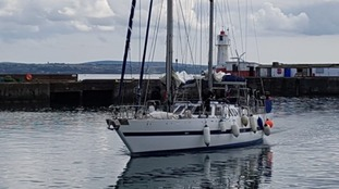 The yacht intercepted at Newlyn Harbour by the NCA