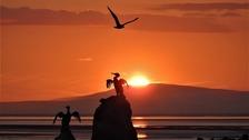 Black Combe sunset from Morecambe Prom  DANIEL HUNT