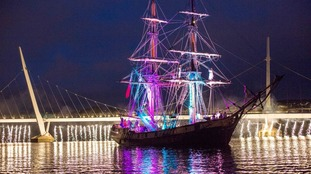 Spectacular illuminations at the Foyle Maritime Festival