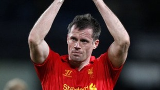 Jamie Carragher in action for Liverpool