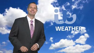 James Wright and the weather forecast in the east