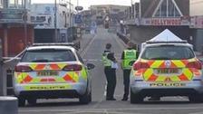 Police guard the scene in Ingoldmells