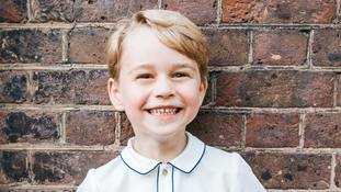 Official birthday picture released to mark Prince George's fifth birthday