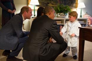 Prince George meets Barack Obama