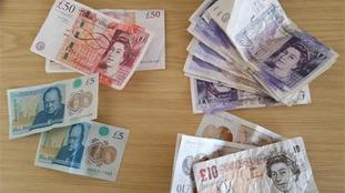 Police seized £769 in cash.