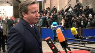 David Cameron has arrived in Brussels