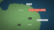 Three rescued from sea off Norfolk coast