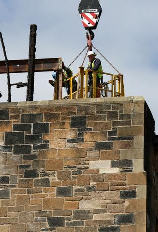 Work continues to dismantle the Glasgow School of Art's Mackintosh building