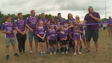 Rugby club makes kit purple in memory of former player and coach