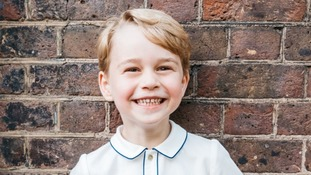 The latest photograph of Prince George as he celebrates his fifth birthday.
