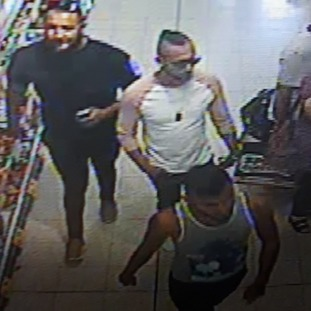 West Mercia Police have released an image of three men they want to speak to as part of their inquiries into the attack