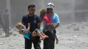 The White Helmets have enjoyed backing from the United States and other Western nations for years Credit: Syrian Civil Defense White Helmets via AP, File