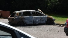 Police later recovered a burnt out car