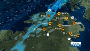 NI Weather: Becoming cloudy with occasional rain