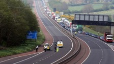 M2 closed after serious multi-vehicle crash