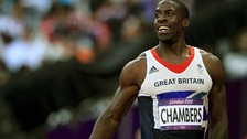 Dwain Chambers pictured during the 2012 Olympics