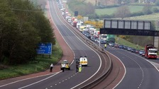 Man dies after five-vehicle crash on M2
