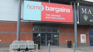 The Home Bargains store in Worcester where the incident is suspected to have taken place.
