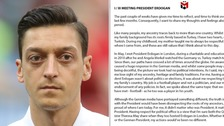 Mesut Ozil quits German football team over 'racist' treatment