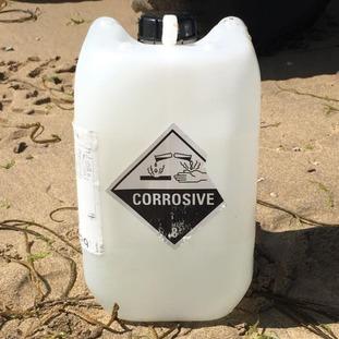 Corrosive container