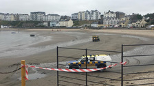 Beach closed after suspected diesel pollution