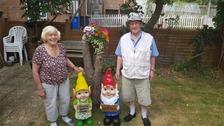 Police replace elderly couple's stolen garden gnome