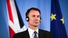 Hunt: No-deal would harm relations with Europe for years