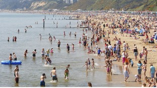 Bournemouth beach on Good Friday last year as people enjoyed the warm weather.