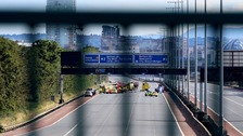 The M2 and M3 had to be closed for a number of hours following Sunday's fatal crash