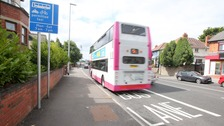 The new Rapid Transit bus lane on the Andersonstown Road in west Belfast