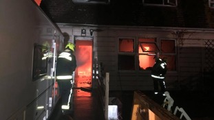 People in Somerset village forced to leave their homes overnight after a home oil tank fire