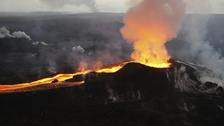 Lava erupts from the Kilauea volcano