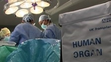 A heart that is being transported for transplant must be moved quickly and safely
