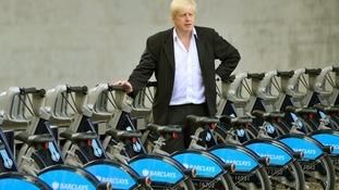 Boris with his bikes in London